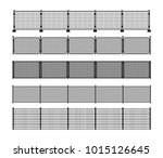 set of different modular metal... | Shutterstock .eps vector #1015126645