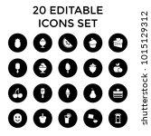 sweet icons. set of 20 editable ... | Shutterstock .eps vector #1015129312