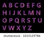 vector alphabet set geometric... | Shutterstock .eps vector #1015129786