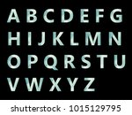vector alphabet set geometric... | Shutterstock .eps vector #1015129795