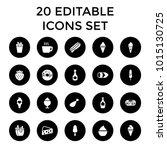 tasty icons. set of 20 editable ... | Shutterstock .eps vector #1015130725