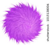 colorful cartoon fluffy pompons.... | Shutterstock .eps vector #1015138006