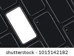 smartphones top view flat lay... | Shutterstock . vector #1015142182