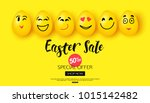 easter sale background with... | Shutterstock .eps vector #1015142482