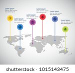 world planet infographic icons | Shutterstock .eps vector #1015143475