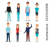 group of people avatars... | Shutterstock .eps vector #1015143508