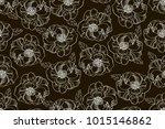 black and white seamless... | Shutterstock .eps vector #1015146862