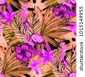 watercolor seamless pattern...   Shutterstock . vector #1015149955