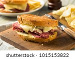 savory homemade corned beef... | Shutterstock . vector #1015153822