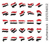 syria flag  vector illustration | Shutterstock .eps vector #1015156012