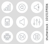 vector illustration of 9 music... | Shutterstock .eps vector #1015159006