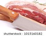 fresh pork isolated | Shutterstock . vector #1015160182