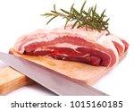 fresh pork isolated | Shutterstock . vector #1015160185