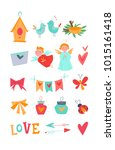 bright vector kit with...   Shutterstock .eps vector #1015161418