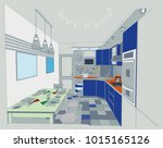 author project blueprint of a... | Shutterstock .eps vector #1015165126