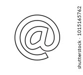 email icon illustration... | Shutterstock .eps vector #1015165762