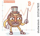 big bitcoin coin shows growth... | Shutterstock .eps vector #1015167835