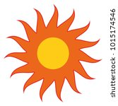 sun with red rays vector eps10 | Shutterstock .eps vector #1015174546