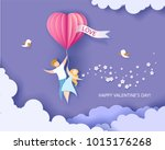 card for valentines day.... | Shutterstock .eps vector #1015176268