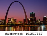 St. Louis Skyline And Arch At...