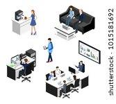 isometric 3d illustration... | Shutterstock . vector #1015181692