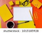work space  top view | Shutterstock . vector #1015185928