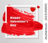 valentines day with red paint... | Shutterstock .eps vector #1015190092