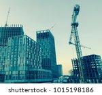 building construction site | Shutterstock . vector #1015198186