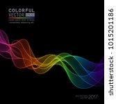 template with gradient rainbow... | Shutterstock .eps vector #1015201186