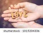 cookies are letters that are... | Shutterstock . vector #1015204336