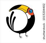 bird toucan logo | Shutterstock .eps vector #1015204402