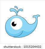 blue whale logo | Shutterstock .eps vector #1015204432