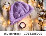 knitted caps in the interior... | Shutterstock . vector #1015205002