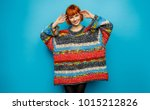 colorful photo of young smiling ... | Shutterstock . vector #1015212826