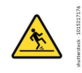 wet floor sign vector icon. | Shutterstock .eps vector #1015217176