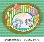 summer greeting card. children...   Shutterstock . vector #101521978