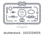 nautical rope knots and frames... | Shutterstock .eps vector #1015224055