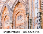 decor of wall in monreale... | Shutterstock . vector #1015225246