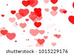 red and pink heart. valentine's ... | Shutterstock . vector #1015229176