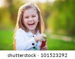 summer portrait of happy cute... | Shutterstock . vector #101523292