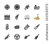 icons weapons. vector bomb ... | Shutterstock .eps vector #1015235572