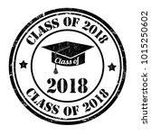 class of 2018 grunge rubber... | Shutterstock .eps vector #1015250602