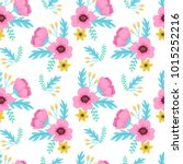 elegant colorful seamless... | Shutterstock .eps vector #1015252216
