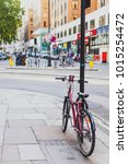 Small photo of LONDON, UNITED KINGDOM - August 2nd, 2014: bike in Berkeley Square, affluent area of London city centre