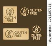 vector gold gluten free logo...   Shutterstock .eps vector #1015257136