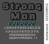 vector set of handwritten abc... | Shutterstock .eps vector #1015258912