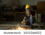 selective focus at his eye.... | Shutterstock . vector #1015266022