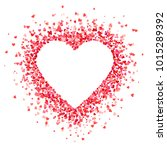 heart shape background with red ... | Shutterstock .eps vector #1015289392