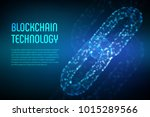 block chain. crypto currency.... | Shutterstock .eps vector #1015289566