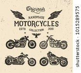 handmade motorcycles collection.... | Shutterstock .eps vector #1015289575
